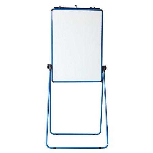 VIZ-PRO Blu Lavagna Magnetica Double Face, Cornice in Alluminio, 70 x 90 cm