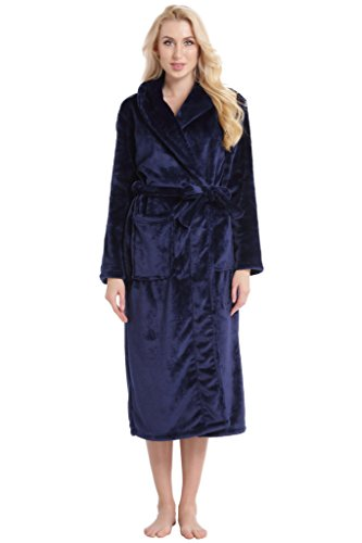 Aibrou Peignoir Femme Velours Robe de Chambre Polaire Femme Chaud ...