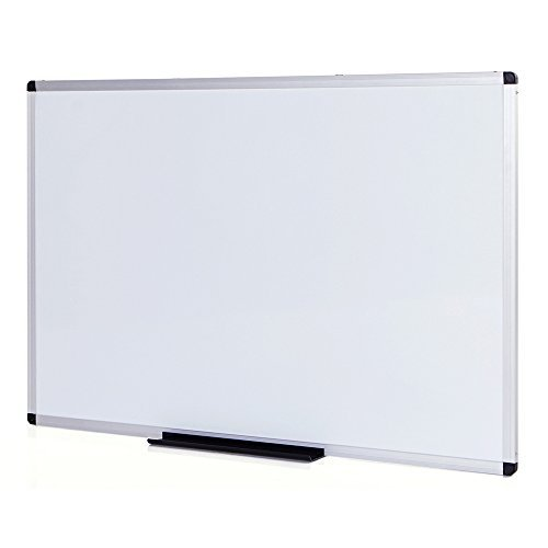 VIZ-PRO Lavagna non Magnetica, cornice in alluminio, 900 x 600 mm