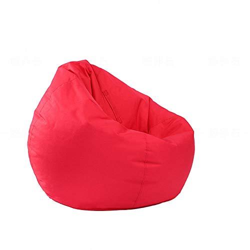 Pouf per bambini e adulti, impermeabile, per interni ed esterni, con cerniera, senza imbottitura, ideale per sedia da gioco e sedia da giardino Red