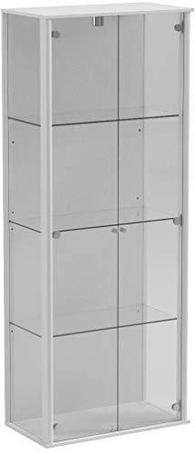 AVANTI TRENDSTORE - Cabinet - Vetrina da Muro, Disponibile in Vari Colori, Bianco Opaco/Quercia...