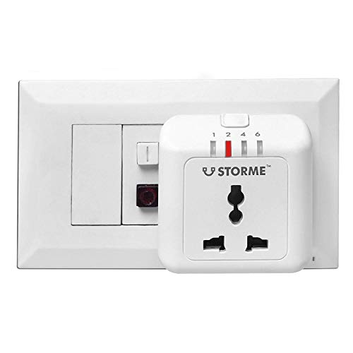 STORME Plastic Automatic Power Cut-Off Timer Socket, Standard, White