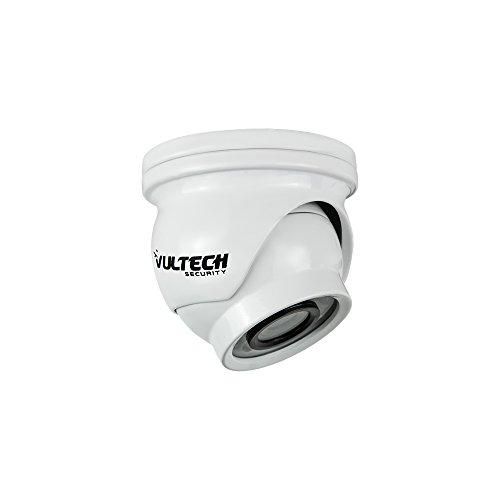 VulTech Security CM-DMM960AHD-B Telecamera Mini, Dome, AHD, 1/4', 1.3 mpx, 960 p, 2.8 mm, LED IR, 12 Pezzi, 10 m, Bianco