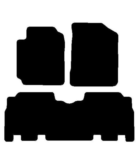 Tappeti per Auto con Posteriore Intero, Set Completo di Tappetini su Misura in Moquette Neri
