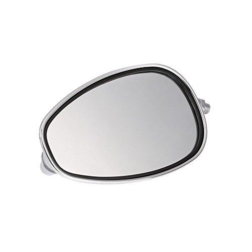 KKMOON Ein Paar Motorrad Rückspiegel Universal Chrom Oval 10mm Gewinde 1