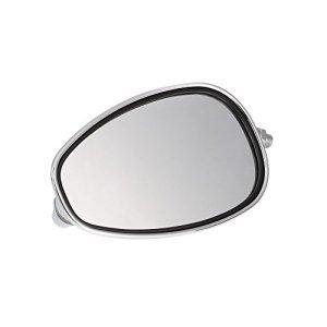 KKMOON Ein Paar Motorrad Rückspiegel Universal Chrom Oval 10mm Gewinde 2