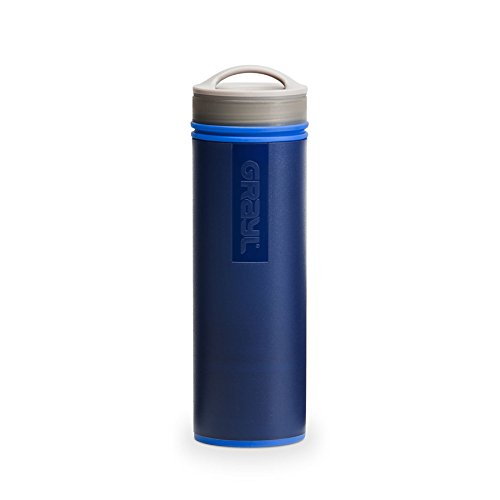 GRAYL Ultralight 0.473L water filter bottle with cartridges bundle (blue) (1 cartridge)