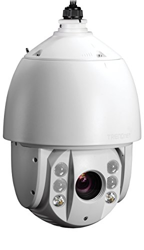 TRENDnet Indoor/Outdoor Speed Dome PoE+ IP Camera with 1.3 Megapixel 720p HD Resolution, 20x Optical Zoom, 16x Digital zoom with Auto-Focus, IP66 Weather Rated Housing, Smart IR Night Vision up to 330 ft., Endless 360 degree Pan/ 95 Degree Tilt, Samba or Micro SD Card slot, Digital WDR, Secu, Free App for Android, and IOS, TV-IP450PI