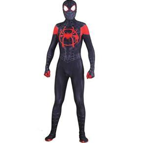 SPIDERMANHTT Traje de Cosplay de Spiderman Traje de Halloween Ropa for adultos siameses Accesorios for hombre Impresión 3D Spandex Lycra (Color : Conjoined, Size : M)