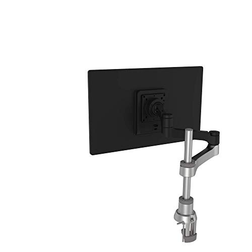 R-Go Zepher 4 C2 nachhaltiger Monitor Arm, Tischhalterung, Justierbar, nachhaltiger Monitor Arm, 8 kg Tragkraft, schwarz/silber, geringer CO2 Fußabdruck