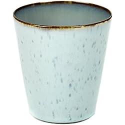 Becher konische Form von Serax, Steingut, hellblau/rauchblau, ø 8,5 cm H 9,5 cm