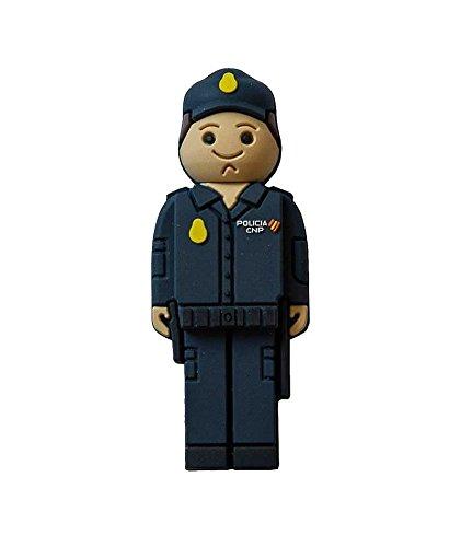 USB Pendrive Policía Nacional de 16 GB en Lata con Abre fácil