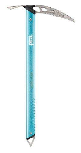 Petzl Eispickel Glacier Literide - Piolet de Escalada, Color Azul, Talla 50 cm
