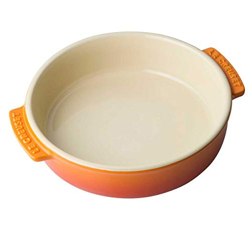 LE CREUSET 91036014090000 Piatto Tapas in Gres, 14 cm, Arancione, Ceramica, Arancio