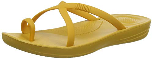 Fitflop Prima Iqushion Cross Slide - Solid, Infradito Donna, Giallo (Baked Yellow 684), 39 EU