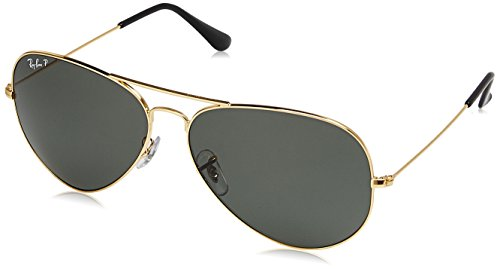 Ray-Ban Polarized Aviator Men's Sunglasses - (0RB3025I001/5862|62|Crystal Green Polarized Color)