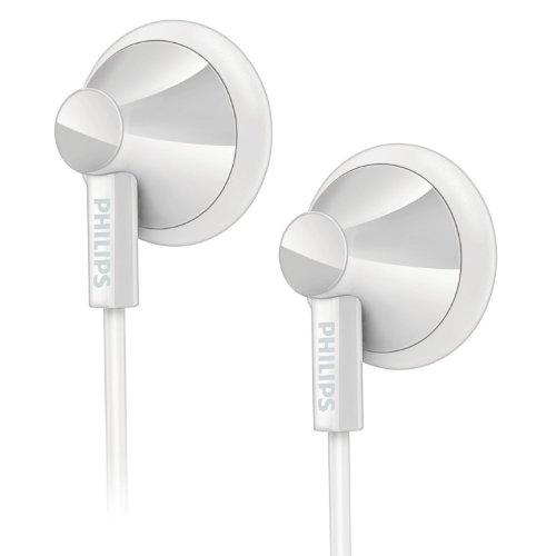 Philips SHE2105WT - Auriculares de botón (Con micrófono), blanco