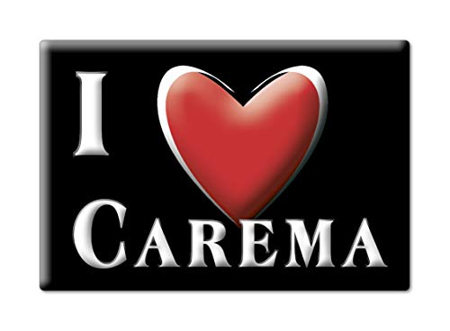Enjoymagnets CAREMA CALAMITA Magnete Piemonte (TO) Italia Fridge Magnet Souvenir I Love (VAR. Black)