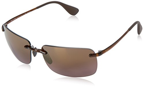 Ray-Ban Polarized Square Men's Sunglasses - (0RB4255604/6B60|60|Brown Mirror Gold Polar Color)