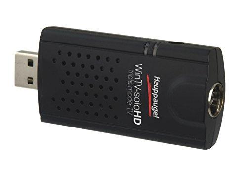 Hauppauge WinTV-soloHD 01589 - USB TV-Tuner - digitales Fernsehen DVB-T2 HD, DVB-C HD, DVB-T für Laptop oder PC