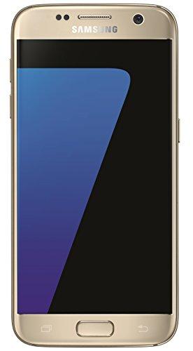 """Samsung Galaxy S7, Smartphone Libre (5.1"""", 4GB RAM, 32GB, 12MP/Versión Alemana: No Incluye Samsung Pay ni Acceso a promociones Samsung Members), Color Oro"""