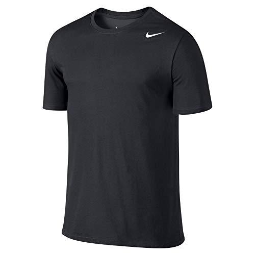 Nike M Nk Dry Tee Dfc 2.0 Camiseta de manga corta, Hombre, Negro (Black/Black/White), M