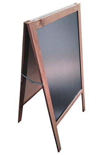 Lavagna nera con cavalletto,120 x 60 cm, adatta per pennarello in gesso liquido e gesso...