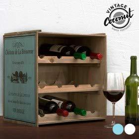 Unbekannt Contenitore per Bottiglie di Vino, di Colore Scuro, scaffale per Vino, armadietto da...
