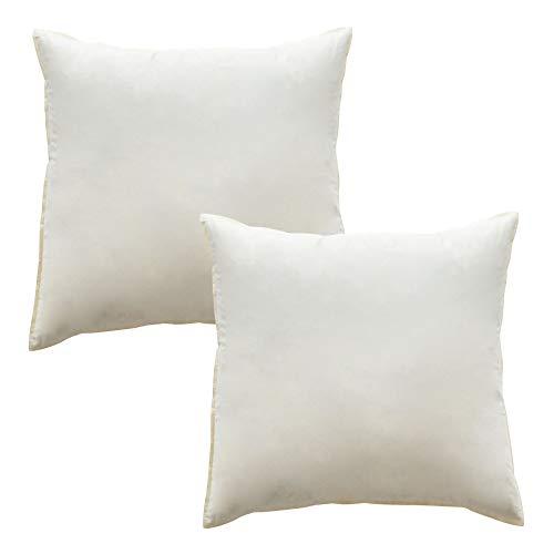 Mack 2 cuscini di piume 40 x 40 cm con imbottitura di 360 g ciascuno