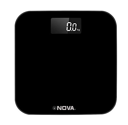 Nova Ultra Lite Rechargeable USB BGS 1270 Personal Digital Weighing Scale (Black)