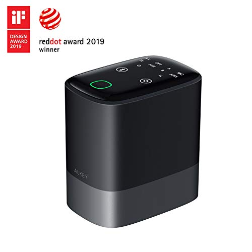 AUKEY Emetteur Recepteur Bluetooth 5.0, 2-en-1 sans Fil Adaptateur Audio avec aptX Low Latency, 50m Gamme, Deux Connexions pour Home Stéréo Ordinateur, TVS, etc