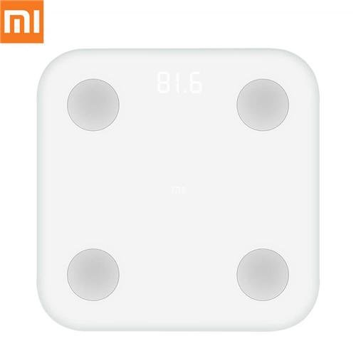 XIAOMI XMTZCO1HM Bilancia Mi Smart, Bluetooth, per MI Band e Mi Fit, bianco, silicone, led