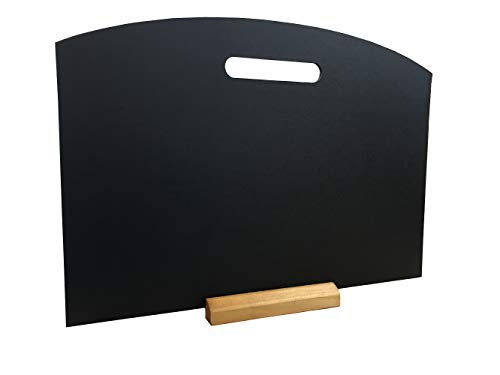 Manico a forma di tavolo lavagna menu lavagna per pub bistrot Specials con piedistallo A3...