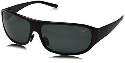 Xezo-Base-Curva-8-Titanio-slido-polarizadas-UV-400-Gafas-de-Sol-para-Hombres-con-Negro-Lente-Caf-Acabado-metlico-17-Oz-Grande