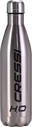 Cressi Water Bottle H20 Double Wall Stainless Steel, Borraccia Sportiva in Acciaio Inox Disponibile...