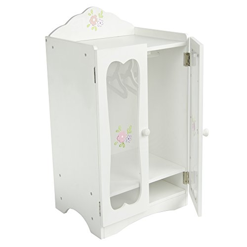 Guardaroba Armadio Legno mobili per Bambole da 45 cmOlivias World TD-0209A