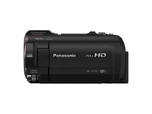 Panasonic HC-V770 Full HD Camcorder with 20X Optical Zoom, 1/2.3-inch BSI Sensor, HDR Capture, WiFi Smartphone Twin Video Capture(USA Black)