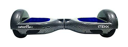 Itekk Hoverboard 6.6 Carbon Fluo +, Assicurazione AXA 'Tutela Famiglia' inclusa, Blu Fluo