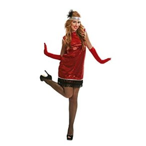 My Other Me Me-203651 Disfraz Charleston para mujer, color rojo, S (Viving Costumes 203651)