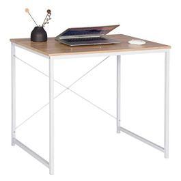 WOLTU #1189 Scrivania Computer Tavolo PC Scaffale Moderno in Acciaio Legno per Ufficio Lavoro Studio