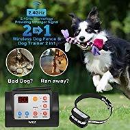 WIEZ Dog Fence Wireless & Training Collar Outdoor 2-in-1