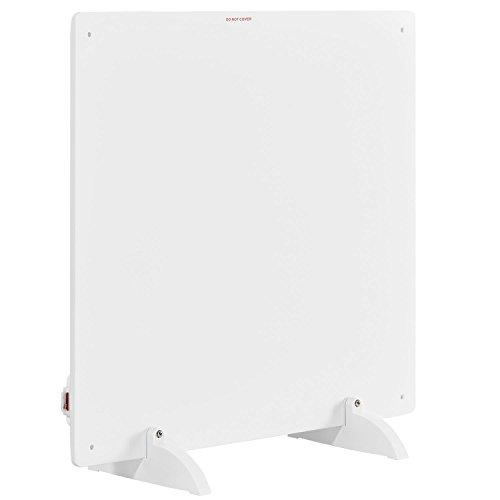 Juskys Infrarotheizung 425 Watt mit Überhitzungsschutz, Stromkabel & Standfüßen   weiß   Infrarot Heizpaneel Wandheizung Elektroheizung Heizkörper