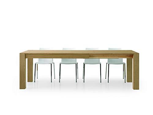 Fashion Commerce FC632 Tavolo Rovere Naturale Allungabile, Legno, Marrone, 140 x 90 x 75 cm