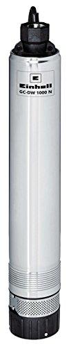 Einhell 4170955 Tiefbrunnenpumpe GC-DW N (1000 W, 6500 L/h, 19 m Eintauchtiefe, 45 m Förderhöhe, Edelstahlgehäuse, inkl. 22 m Ablassseil)