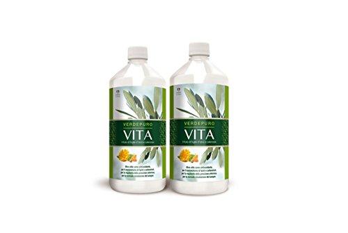 VERDEPURO VITA MYVITALY 2 litri - Estratto Foglie D'olivo e Calendula Liquido - Integratore Alimentare