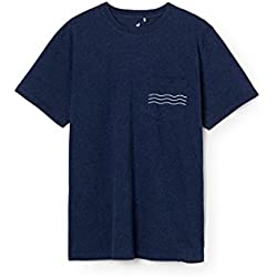 TWOTHIRDS Men's T-shirt - 100% cotton - Pupuya pocket wave (large)