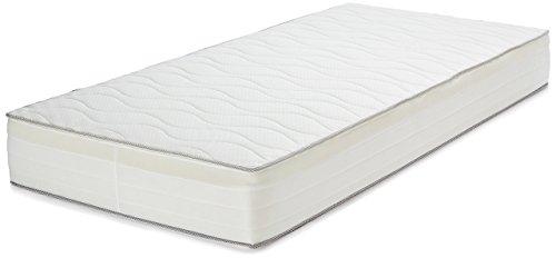 AmazonBasics - Materasso extra comfort a 7 zone a molle, Medio, 90 x 190 cm