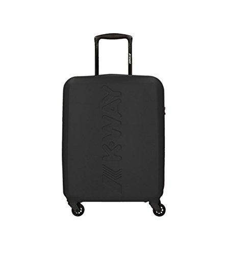 K-AIR CABIN TROLLEY VALIGIA UNISEX PVC PLASTIC NERO BLACK CERNIERA COD.6BK1G01K