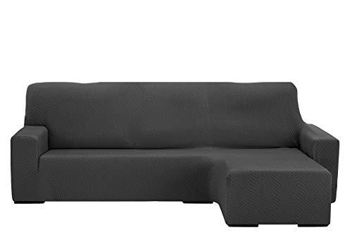 Martina Home Custodia Sofa Chaise Longue Elastica Nairobi, Grigio, Braccio Destro Corto da 240A 280cm