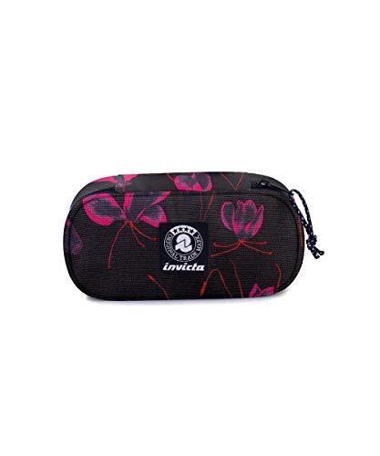 Portapenne INVICTA - LIP PENCIL BAG XL - Darker Flowers - Scomparto interno attrezzato
